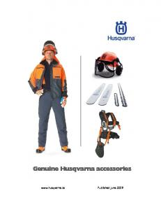 Genuine Husqvarna accessories