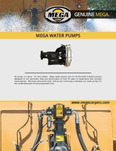 GENUINE MEGA. MEGA WATER PUMPS