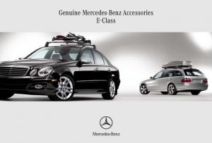 Genuine Mercedes-Benz Accessories E-Class