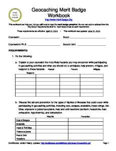 Geocaching Merit Badge Workbook
