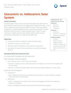 Geocentric vs. Heliocentric Solar System