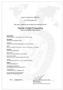 Geodis Freight Forwarding Legal entity Geodis Wilson Network