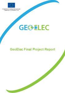 GeoElec Final Project Report