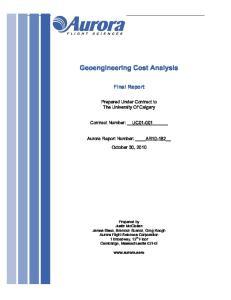 Geoengineering Cost Analysis
