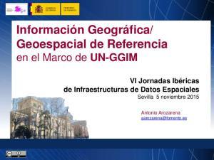 Geoespacial de Referencia en el Marco de UN-GGIM