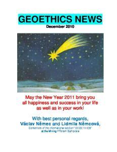 GEOETHICS NEWS December 2010