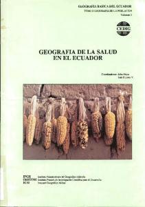 GEOGRAFIA DE LA SALUD EN EL ECUADOR