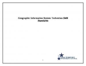 Geographic Information System Technician Skill Standards