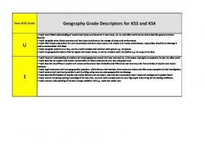 Geography Grade Descriptors for KS3 and KS4