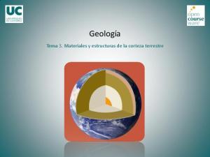 Geología. Tema 3. Materiales y estructuras de la corteza terrestre