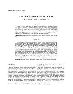 GEOLOGIA y METALOGENIA DE LA PUNA