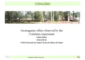 Geomagnetic effect observed by the Codalema experiment