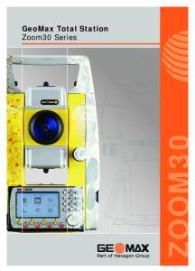 GeoMax Total Station Zoom30 Series
