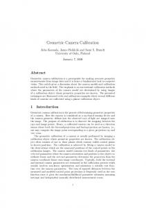 Geometric Camera Calibration