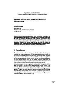 Geometric Error Correction in Coordinate Measurement