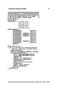 Geometrical Computer Graphics 11