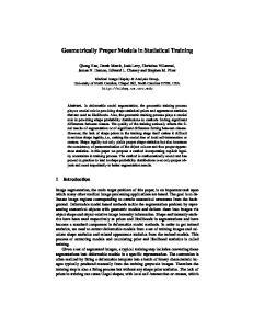 Geometrically Proper Models in Statistical Training