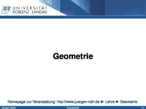 Geometrie 1.1. Homepage zur Veranstaltung:  Lehre Geometrie