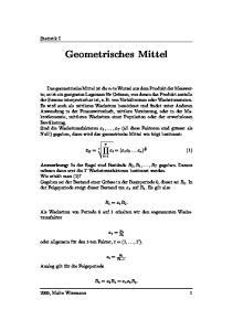 Geometrisches Mittel