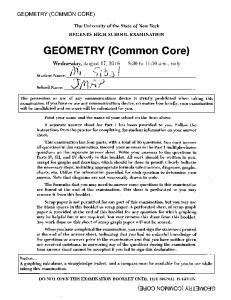 GEOMETRY (Common Core)