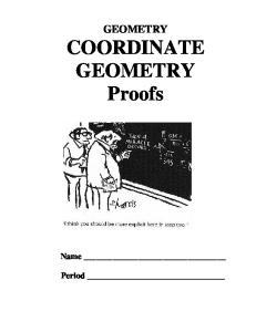 GEOMETRY COORDINATE GEOMETRY Proofs