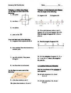 Geometry Fall Final Review