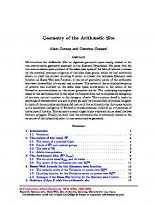 Geometry of the Arithmetic Site