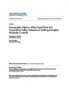 Geomorphic History of the Grand River and Grand River Valley: Natural and Anthropomorphic Hydraulic Controls