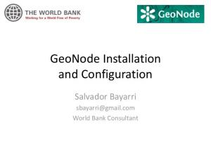 GeoNode Installation and Configuration