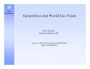 Geopolitics and World Gas Trade