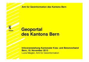Geoportal des Kantons Bern