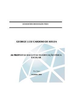 GEORGE LUIZ CARDOSO DE SOUZA