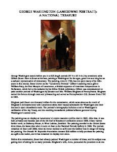 GEORGE WASHINGTON (LANSDOWNE PORTRAIT): A NATIONAL TREASURE