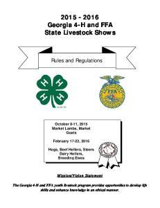 Georgia 4-H and FFA State Livestock Shows
