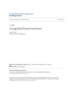 Georgia Real Estate Foreclosure