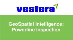 GeoSpatial Intelligence: Powerline Inspection