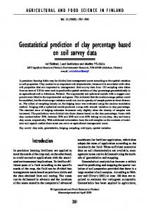 Geostatistical prediction of clay percentage based on soil survey data