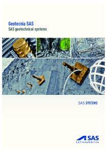 Geotecnia SAS SAS geotechnical systems SAS SYSTEMS