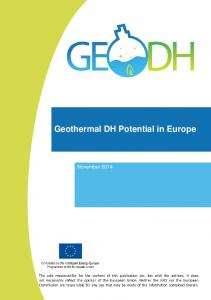 Geothermal DH Potential in Europe