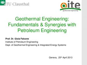 Geothermal Engineering: Fundamentals & Synergies with Petroleum Engineering