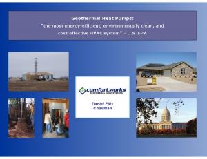 Geothermal Heat Pumps: