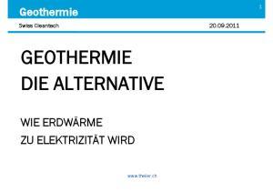 GEOTHERMIE DIE ALTERNATIVE