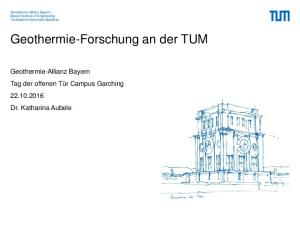 Geothermie-Forschung an der TUM