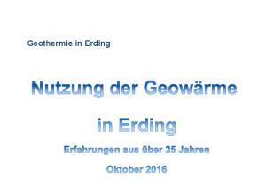 Geothermie in Erding
