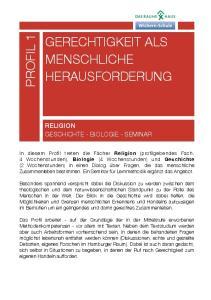 GERECHTIGKEIT ALS MENSCHLICHE HERAUSFORDERUNG