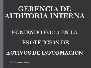 GERENCIA DE AUDITORIA INTERNA