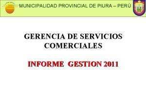 GERENCIA DE SERVICIOS COMERCIALES