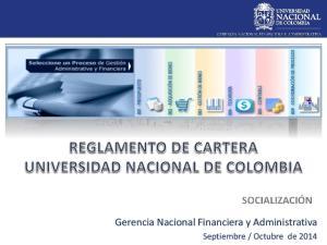 Gerencia Nacional Financiera y Administrativa