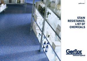 gerflor.com STAIN RESISTANCE: LIST OF CHEMICALS