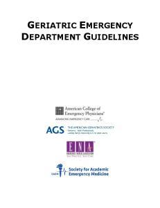 GERIATRIC EMERGENCY DEPARTMENT GUIDELINES